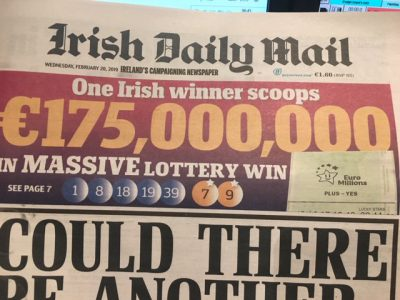 Record Irish Jackpot