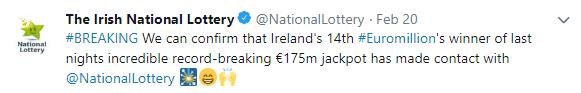 Luck of the Irish Twitter Post 2
