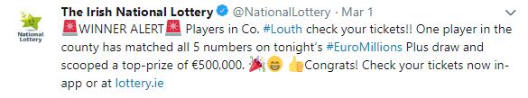 Euromillions winner